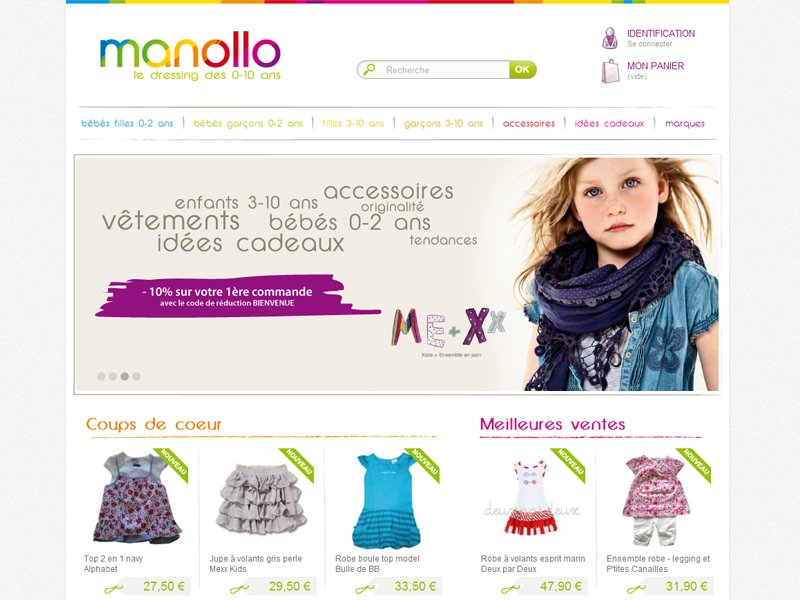 Site e-commerce Manollo