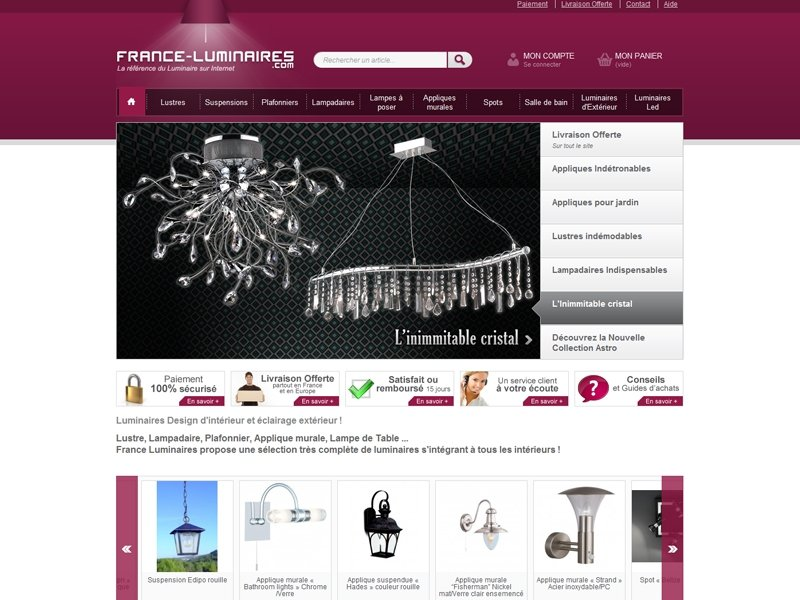 r f rences france luminaires dream me up. Black Bedroom Furniture Sets. Home Design Ideas